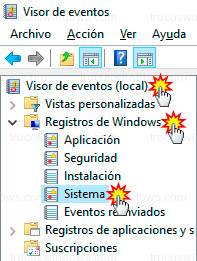 Windows 10 - Registros del sistema