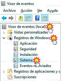 Windows 10 - Registros del sistema