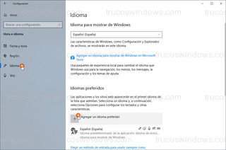 Windows 10 - Idioma