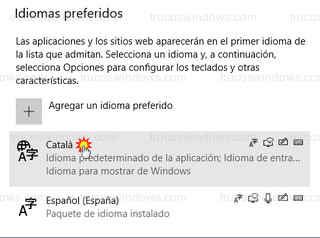 Windows 10 - Idiomas preferidos