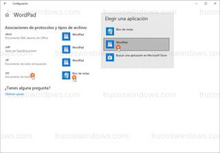 Windows 10 - Cambiar para la extensión .txt