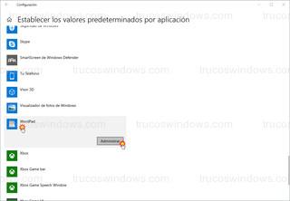 Windows 10 - Establecer los valores predeterminados por aplicación