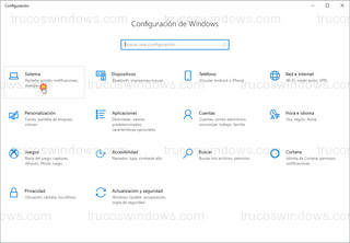 Windows 10 - Inicio > Configuración > Sistema