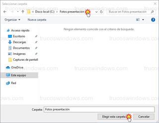 Windows 10 - Carpeta donde se encuentran los fondos de pantalla