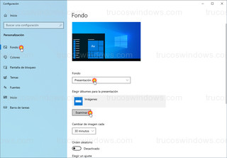 Windows 10 - Configuración fondo de pantalla