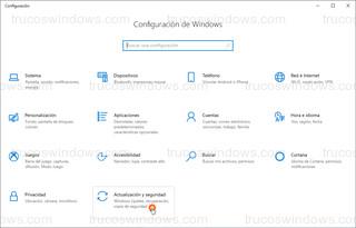 Configuración de Windows - Actualización y seguridad