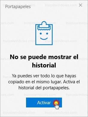 Windows 10 - Portapapeles