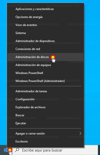 Windows 10 - Administración de discos