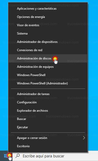 Windows 10 - Administración de discos