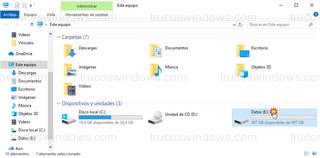 Explorador de archivos - Unidad Datos de 1 Tera