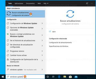 Windows 10 buscar - Windows Update