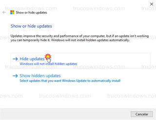 Show or Hide Updated - Hide Updated