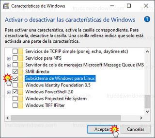 Características de Windows - Subsistema de Windows para Linux
