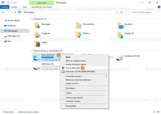 Explorador de archivos - Activar BitLocker en Disco local c:
