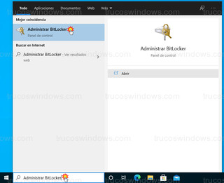 Windows 10 - Administrar BitLocker