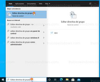 Windows 10 - Editar directiva de grupo