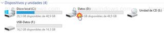 Explorador de archivos - Unidad datos cifrada