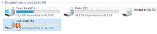 Explorador de archivos - Unidad flash USB cifrada