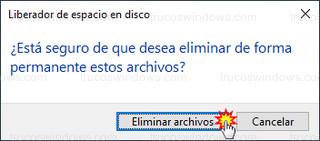 Liberador de espacio en disco - Eliminar archivos