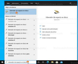 Windows 10 - Liberador de espacio en disco