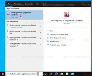 Windows 10 - Desfragmentar y optimizar unidades
