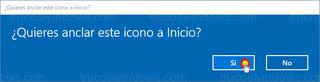Windows 10 - Anclar icono a Inicio
