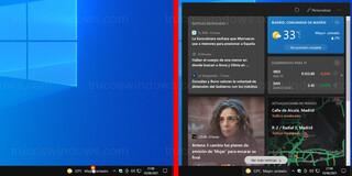Windows 10 - Widget Noticias e intereses
