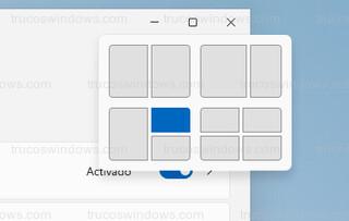 Menú del botón maximizar - Cuatro diseños