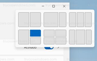 Menú del botón maximizar - Seis diseños