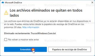 Microsoft OneDrive - Los archivos eliminados se quitan en todos lados