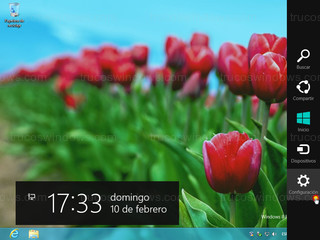 Windows 8 - Configuración barra charm