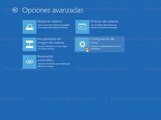 Windows 8 - Configuracion inicio
