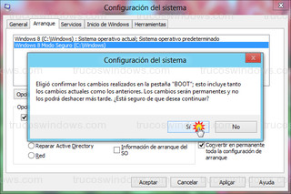Windows 8 - Confirmar cambios