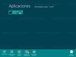 Windows 8 - Ejecutar como administrador (símbolo del sistema)
