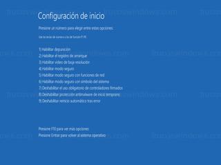 Windows 8 - Habilitar modo seguro